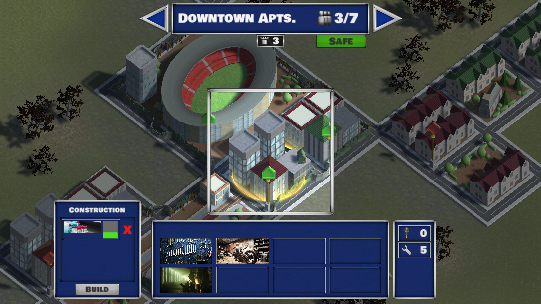 Occupied buildings are expanded with useful rooms