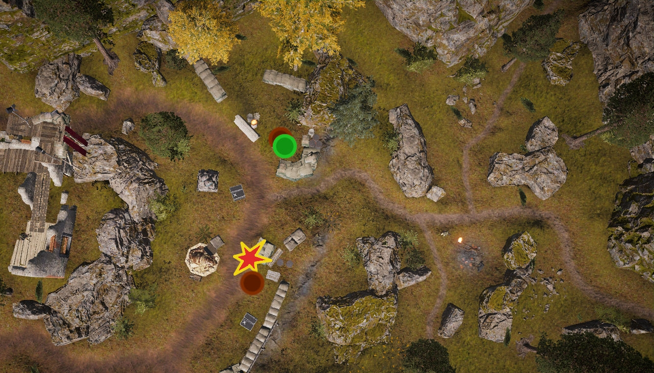The Player 'fights  through' the enemy position