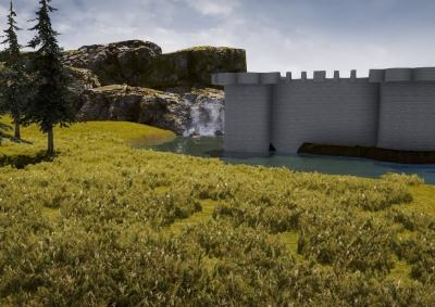 Medieval Castle test level