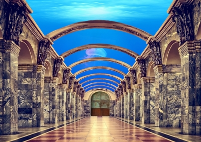Underwater City corridor mockup